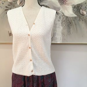Button Up Sweater Vest by Haley